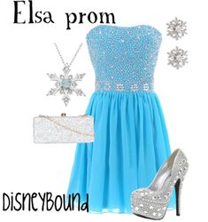 Elsa prom DisneyBound