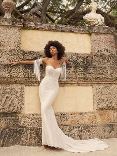Who says math can't be a romance language? This geometric lace bridal dress is a love sonnet unto itself. Wedding Dress Boutiques, Designer Wedding Dresses, Bridal Dresses, Maggie Sottero Wedding Dresses, Wedding Gowns, Elopement Wedding, Wedding Bridesmaid Dresses, Bridal Lace, Bridal Style