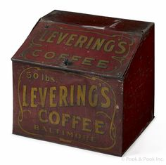 Painted countertop tin for Levering's Coffee Baltimore