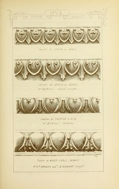 many more on site: 1915 - Vol. 8 - Materials & documents of architecture… Detail Architecture, Architecture Drawings, Classical Architecture, Neoclassical Interior, Tanjore Painting, Carving Designs, Zen Art, Document, Technical Drawing