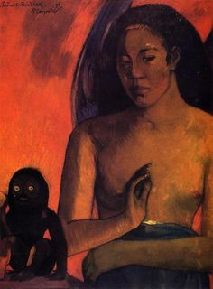 Paul Gauguin: 'Barbarian Poems', 1896 (oil on canvas). Fogg Art Museum…