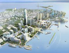 Urban Design Honor Award Winner: Qingdao Harborfront in Qingdao, Shangdong, China by EE a Perkins Eastman Company