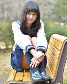 道場菜月 School Girl Japan, High School Girls, School Uniform Girls, Girls Uniforms, Japan Girl, Cute School Uniforms, Asian Beauty, Cool Girl, Cute Girls
