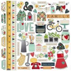 Simple Stories - Homespun - Fundamentals Stickers