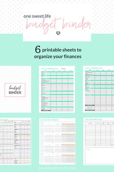 Printables to get you started using a budget binder! Easily keep track of your money, stay on top of your budget, and your hit your financial goals! via @myonesweetlife