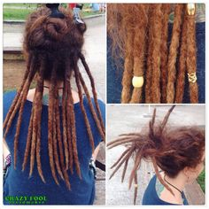 Dreads nos cabelos de Nathalia feitos aqui na praça Roosevelt em São Paulo/SP.