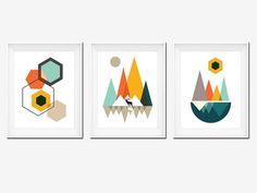 Best Seller Printable Art Mountains Art Geometric by OhFinale