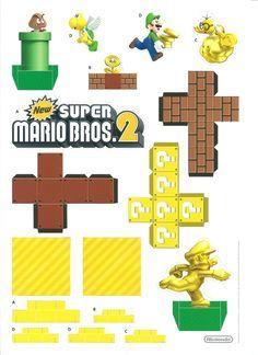 Super Mario Bros. 2 Papercraft diorama
