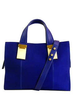 Beautiful Royal Blue color with gold tone ...  Zac Posen  2014