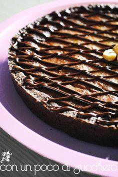 Tarte di frolla al Cacao, con Ricotta, Nocciole e Gianduia