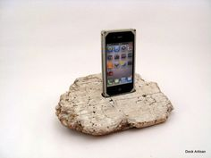 Got to have this! Driftwood iPhone 3 Docking Station - ICN D4. $40.00, via Etsy.