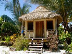 Belize - I like the big shells lining the steps Tiny Beach House, Beach Houses, Tiny Houses, Small Cottages, American Houses, Beach Shack, Belize, Bungalow, Gazebo