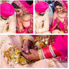 Je pyar karda he Tha yakeen vi rak Nai tè asi bewafa hi thik ha Je tu kenda he tere bin kath lu Eh isq he koi game nai Life di Punjabi Wedding Couple, Punjabi Couple, Sikh Wedding, Wedding Goals, Wedding Pics, Wedding Couples, Wedding Stuff, Pink Bridal Lehenga, Bridal Chuda