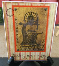 So Suzy Stamps: Sending You a Note - Vintage Style