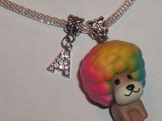 dog that has a afro and on necklace Pandora Style Charms, Kawaii Jewelry, Rilakkuma, Afro, Charmed, Pendant Necklace, Lettering, Trending Outfits