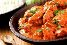Indian tandoori: 500 g chicken breast fillet 250 g lean yog .- Indian tandoori: 500 g chicken breast fillet 250 g lean yogurt fat) 2 cloves of garlic 1 small piece of ginger 1 tsp tandoori masala (Indian spice mix … - Poulet Tikka Masala, Tandoori Masala, Butter Chicken Curry, Indian Butter Chicken, Best Indian Chicken Recipe, Indian Food Recipes, Recipe Chicken, Chicken Makhani, Recipes