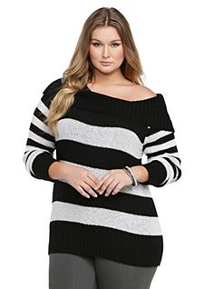 a7ba21de4f7 Fashion Bug Plus Size Striped Marilyn Tunic Sweater www.fashionbug.us   PlusSize