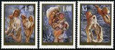 Liechtenstein Stamps - Sc.# 1337-39 - Christmas 2005. Sculptures Made from Tree Forms