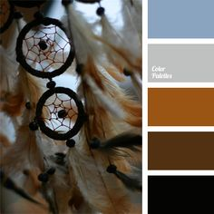 Combination of warm brown shades and cold blue shades makes a calm classic palette. This color range will be good for decoration of a hall, a sitting room or a classic study, as well as will look natural in official men's clothes.