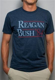 Rowdy Gentleman Reagan Bush 84 Vintage T-Shirt for Men #REAGAN #BUSH