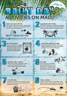 maui's best rainy day activities infographic