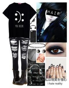 """""""All Black Tag"""" by xoxolonxoxo ❤ liked on Polyvore"""