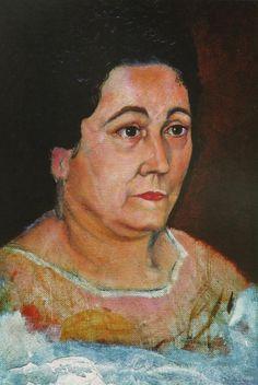 Portrait of the Artist's Mother, Dofia Felipa Dome Domenech De, Dali, 1920  Salvador Dali