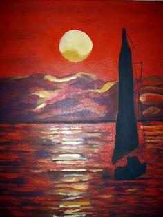 Evening Sky on Mobile Bay  Acrylic  Artist  Joseph Chubb