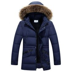 Faux Fur Collar Hooded Selvedge Embellished Zip-Up Padded Coat 218a1b59b3