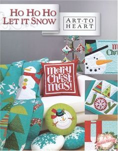 Ho Ho Ho Let It Snow Art to Heart Quilt Pattern Book Snowman Winter Christmas Themes gently pre owned , pattern still inside the folder Winter Christmas, Christmas Themes, Christmas Crafts, Christmas Sewing, Merry Christmas, Christmas Planning, Christmas Patterns, Christmas Baby, Handmade Christmas