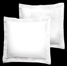 American Pillowcase White Pillow Shams Set of 2 - Luxury 300 Thread Count 100% Egyptian Cotton (2 Pack, Euro 18x18)