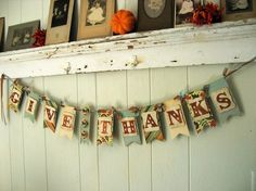 Glitter thanksgiving banner? Why do I love glitter as much as a 10 year old girl does.