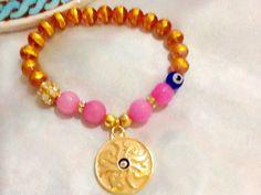 Gypsy sunshine bracelet  bohemian bracelet  evil eye by Nezihe1