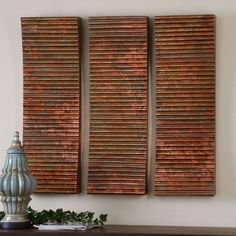Have to have it. Uttermost Adara Copper Wall Art - Set of 3 - 12W x 36H in. - $371.8 @hayneedle