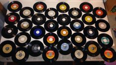 Large Vintage Collection of 45rpm Records 32 Records 7""