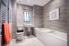 Grey wave effect bathroom.