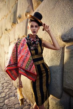 Flavia De Oliveira Stuns In Peru For Woman Shoot By Richard Ramos Folk Fashion, Fashion Moda, Ethnic Fashion, Fashion Prints, Estilo Popular, Women's Shooting, Ethnic Chic, Global Style, Mode Editorials