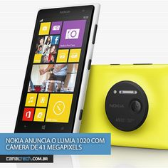 O novo Lumia 1020 é incrível. E não é só por causa da câmera de 41 megapixels. Conheça detalhes do smartphone da Nokia que chega ao Brasil até o final de 2013 •Depois de uma série de rumores circularem pela web, nesta quinta-feira (11) a Nokia finalmente fez o anúncio oficial do seu mais novo smartp