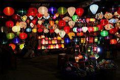 Photo of the Day: Colors of the Night in Vietnam | Colorful lanterns light up the night's sky in Hanoi, #Vietnam on September 10, 2013. (PTorrodellas/Flickr)