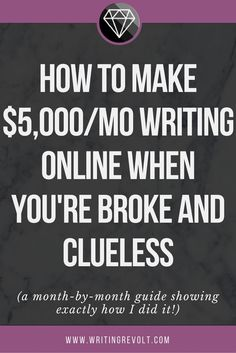 Make money writing o