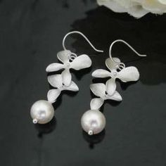 Orchid flowers Earring, Swa..