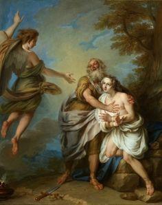 Abraham and the Angel, Charles-Antoine Coypel IV
