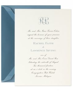 """See+the+""""Invitation+with+Monogram""""+in+our+Classic+Wedding+Invitations+gallery"""