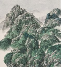 Green Mountains | From a unique collection of art at https://www.1stdibs.com/art/
