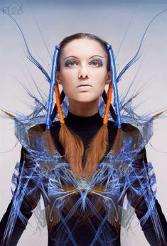 future fashion, futuristic look, girl, model, fashion girl by FuturisticNews