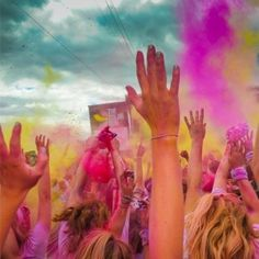 We are so tempted to sign up for the colour run!