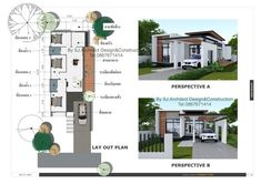 After finding a permanent job and once you are settled with it, it is high time for you to finally buy or build your own house. This is always the major goal and ultimate dream [. Modern Bungalow House Design, Small Modern House Plans, Simple House Design, House Layout Plans, House Layouts, Modern Exterior, Exterior Design, House Construction Plan, Room Design Bedroom