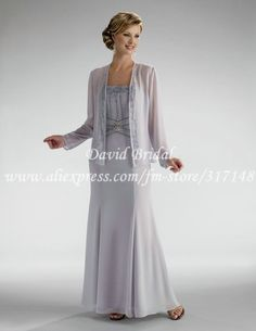 Floor Length Sheath Chiffon Mother Of The Bride Dresses With Long Jacket Ed071 144 00