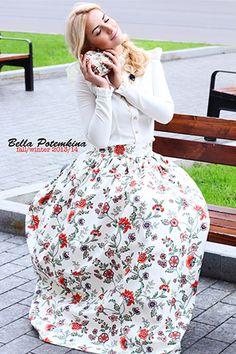Floral vintage dress by Bella Potemkina