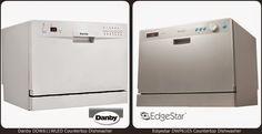 Danby White countertop dishwasher vs Edgestar DWP61ES Silver